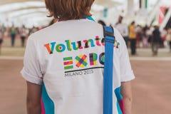 Volunteer at Expo 2105 in Milan, Italy Royalty Free Stock Photo