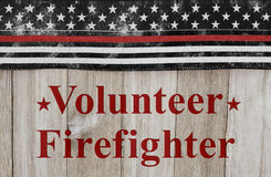 Volunteer Firefighter message Royalty Free Stock Photography