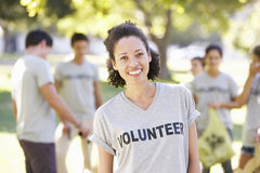 Volunteer Group Clearing Litter In Park Royalty Free Stock Photo