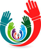 Volunteer hands stock illustration