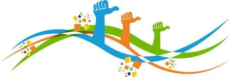 Volunteer hands Stock Image