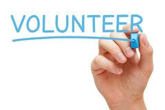 Volunteer Handwritten With Blue Marker Royalty Free Stock Images