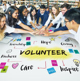 Volunteer Help Donation Hope Kindness Concept stock photography