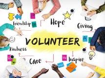Volunteer Help Donation Hope Kindness Concept. Volunteer Help Donation Hope Kindness Stock Images