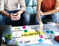 Volunteer Help Donation Hope Kindness Concept. Volunteer Help Donation Hope Kindness Graphics Concept Stock Image