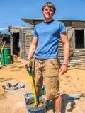 Volunteer House Builder Royalty Free Stock Photo