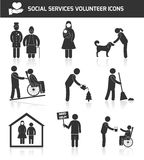 Volunteer icons set Stock Photography