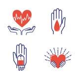 Volunteer icons vector set. royalty free illustration