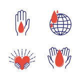 Volunteer icons vector set. Stock Photos