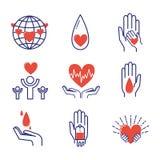 Volunteer icons vector set. Royalty Free Stock Photo