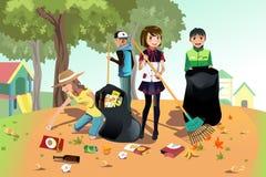 Volunteer kids royalty free illustration