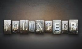 Volunteer Letterpress Stock Image