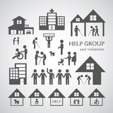Volunteer for non profit social service symbol Stock Photos