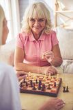 Volunteer and old people Stock Images