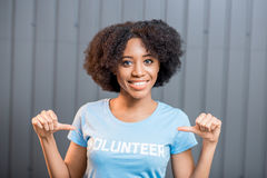 Volunteer portrait indoors Stock Photo