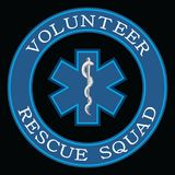 Volunteer Rescue Squad Design. Is an illustration that can be used to represent rescue volunteer squad crews or members. Just add your name or location. Great Royalty Free Stock Images