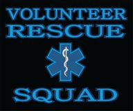 Volunteer Rescue Squad. Is an illustration that can be used to represent rescue volunteer squad crews or members. Just add your name or location. Great for Royalty Free Stock Photo