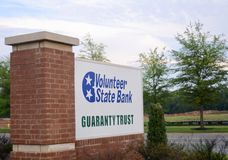 Volunteer State Bank Guaranty Trust, Murfreesboro, TN. Volunteer State Bank Guaranty Trust is a unique full-service bank that caters to personal and small royalty free stock photography