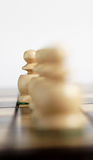 Volunteer from the team. On the chessboard Royalty Free Stock Images