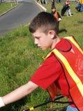 Volunteer Teen Highway Clean-up Royalty Free Stock Image