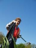 Volunteer Teen Highway Clean-up Stock Image