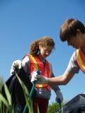 Volunteer Teen Highway Clean-up Royalty Free Stock Photo