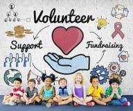 Volunteer Voluntary Volunteering Aid Assisstant Concept Stock Photography