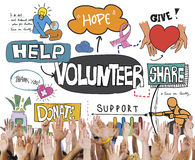 Volunteer Voluntary Volunteering Assist Charity Concept Royalty Free Stock Photography