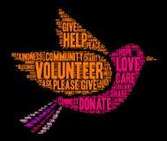 Volunteer Word Cloud Royalty Free Stock Photography