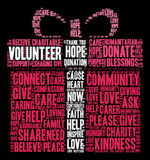 Volunteer Word Cloud. On a black background Stock Photo