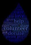 Volunteer Word Cloud Stock Images