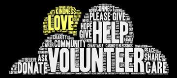 Volunteer Word Cloud Royalty Free Stock Photo