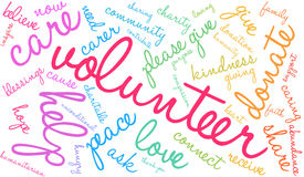 Volunteer Word Cloud. On a white background vector illustration