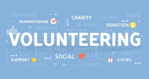 Volunteering concept illustration. Idea of free help and work Stock Photography