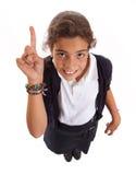 Volunteering schoolgirl Royalty Free Stock Photos