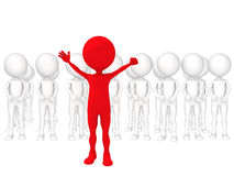 Volunteers. 3d small people - volunteers. 3d image.  white background Royalty Free Stock Photo