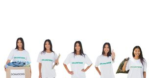 Volunteers girl Royalty Free Stock Photo