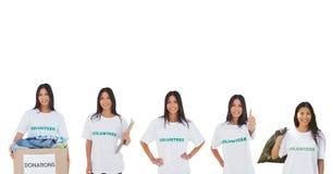 volunteers girl royalty free stock photo