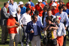 Volunteers at the golf french open 2015 Stock Images