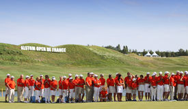 Volunteers at the golf french open 2015 Stock Photos