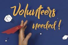 Volunteers needed poster advertisement mockup stock image