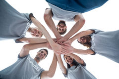 Volunteers putting their hands together Stock Photography