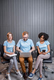 Volunteers working at the office royalty free stock photography