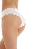 Voluptuous back in pink panties Stock Image