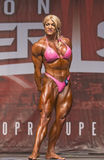 Voluptuous Bodybuilder Makes Strong Statement in Toronto Contest. Strong statement, Shawna Strong, that is, a luscious athlete from Phoenix, Arizona, who Stock Photography