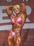 Voluptuous Bodybuilder Makes Strong Statement in Toronto Contest. Strong statement, Shawna Strong, that is, a luscious athlete from Phoenix, Arizona, who Stock Image