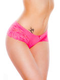 Beautiful female body in underwear Royalty Free Stock Photo