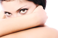 Voluptuous look Stock Images