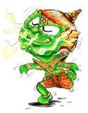 Voluptuous scent to follow cartoon Thai Giant acting Stock Image