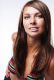 Voluptuous woman in bikini. Attractive young voluptuous woman in bikini Stock Photos